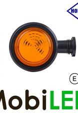 HORPOL LED Breedtelamp Deens model Amber Kort  12-24 volt E-keur