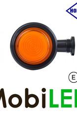 HORPOL NEON Breedtelamp Deens model Amber Kort  12-24 volt E-keur