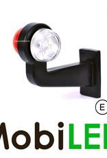 WAS Classic model rood/wit Rechts Gebogen 12-24 volt E-keur