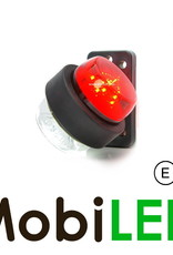 WAS LED Classic  model rood/wit Kort  12-24 volt E-keur
