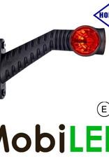 HORPOL Pendellamp Rond Schuin model Rood-Amber-Wit 12-24 volt E-keur