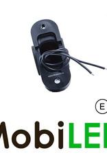 WAS NEON Pendellamp Rond Schuin model Rechts E-keur Rood/Amber/Wit 12-24 volt