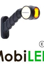 WAS NEON Pendellamp Rond Schuin model Links  E-keur Rood-Amber-Wit 12-24 volt
