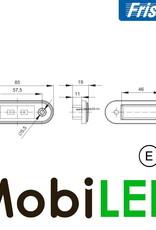 Fristom Markering Slim line 2 leds Blauw E-keur