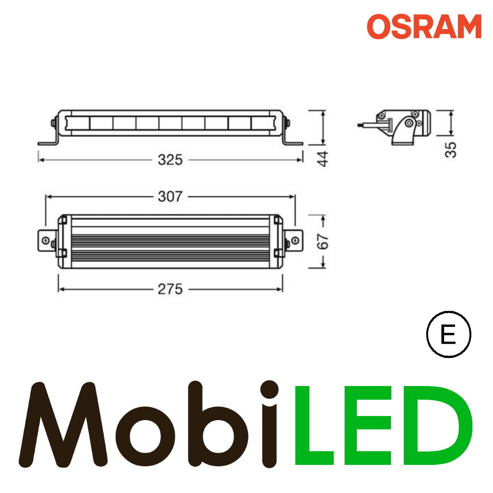 VX250-SP Light bar 27 Watt 275  mm spot E-keur