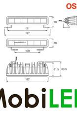 SX180-SP Light bar 14 Watt 182 mm spot E-keur
