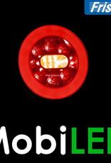Fristom SET 6 ronde achterlichten 5 functies met kabelsets