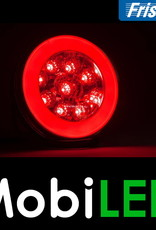 Fristom SET 4 ronde achterlichten 5 functies met kabelsets