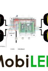 Set flitsers plat model 200mm met controle box voor actieraam