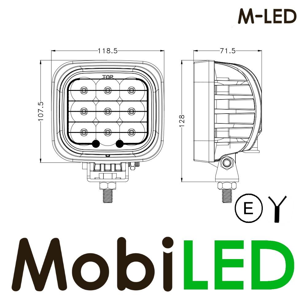 M-LED M-LED werklamp 45watt vierkant E-keur