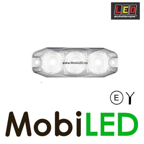 LED autolamps Achteruitrijlamp 3 led helder 12-24V E-Keur