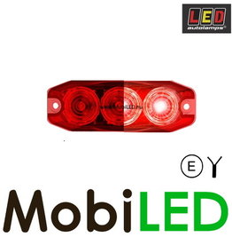 LED autolamps Remlicht 3 led rood
