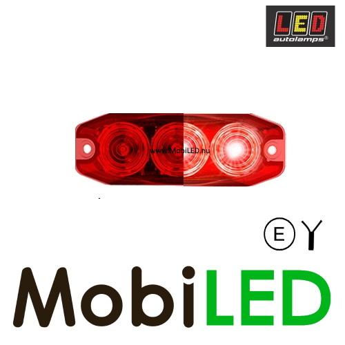 LED autolamps Mistlamp 3 led rood 12-24V E-Keur