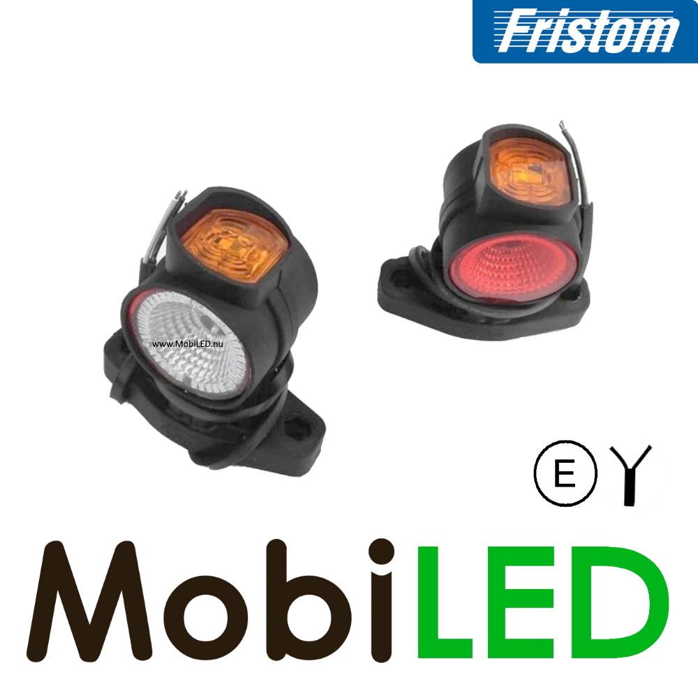 Fristom Pendellamp Links kort E-keur Rood-Amber-Wit 12-24 volt