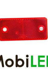 Reflector 94mm rechthoek Rood E-keur