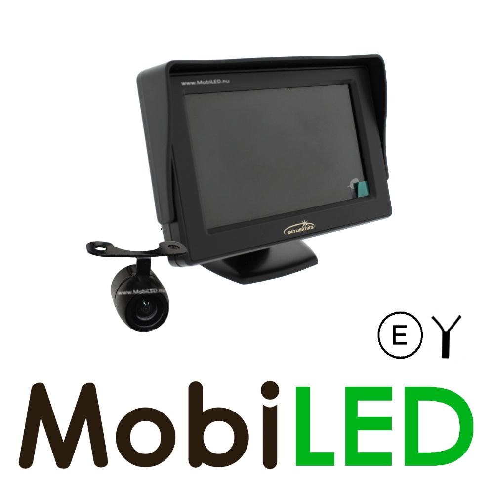 "Achteruitrij camera set, 4,3"" monitor en camera bedraad"