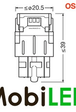 OSRAM W21/5W (W3x16q) LEDriving SL (7515DRP) Rood