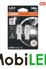 OSRAM W16W (W2.1x9.5d) LEDriving SL (921DRP) Rood