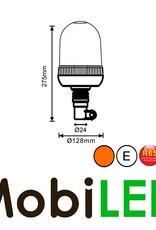 Flitslamp 24 LED opsteek amber E-keur