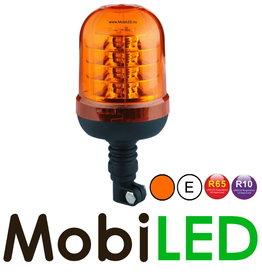 Flitslamp 24 LED opsteek amber