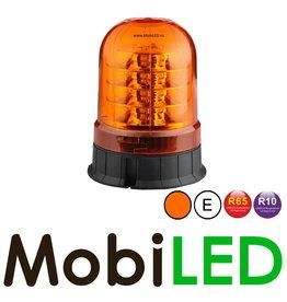 Flitslamp 24 LED vaste montage amber