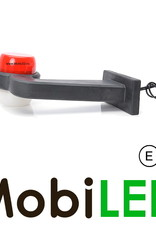 WAS Neon model rood/wit Links Gebogen 12-24 volt E-keur