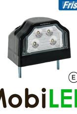 Fristom Kentekenverlichting  Zwart E-keur