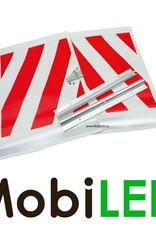 Set laadklep vlaggen rood/wit