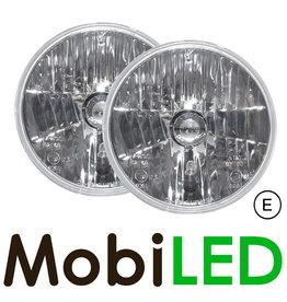 Set super chrystal koplampen 7 inch rond E-keur