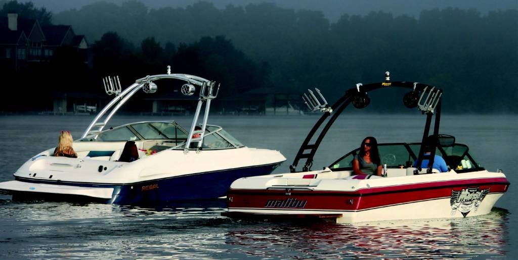Monster Tower Monster Tower MTK Forward Facing Wakeboard Tower w/Nav Light- RAL color