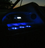 ITC ITC Bekerhouder LED - Blauw - inbouw - RVS