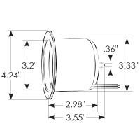 ITC Cup Holder LED Ring - Blau - eingebaut - Edelstahl