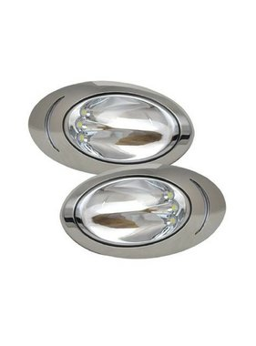 ITC LED Docking Lights - 316 SST - surface mount - pair - large