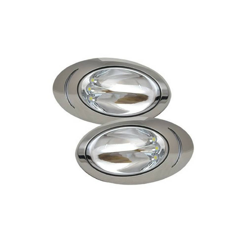 ITC LED-Docking Lights - Edelstahl - pro Paar