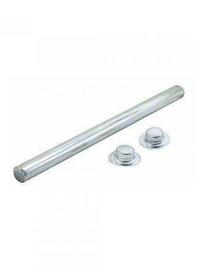 Rollenwelle verzinkt 13mm x 13,3 cm passt auf 10,2 cm Roller