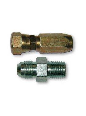 Lecomble & Schmitt Set of s/steel straight fittings flexible tube G1/4 8mm