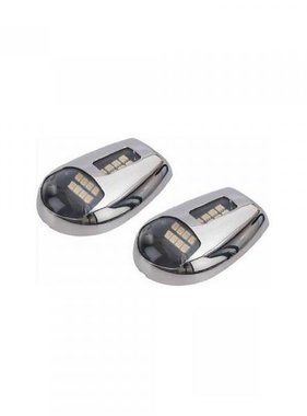Titan Marine LED Docking Lights, 316 ss, stainless steel, pair