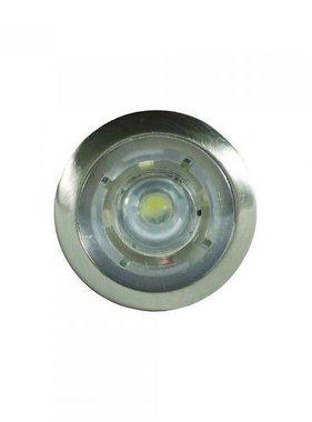 ITC LED-Knopfleuchte Courtesy - Weiß - Nickel