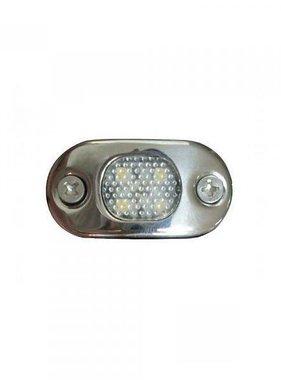 ITC LED licht Courtesy, RVS, warm wit. Opbouw montage