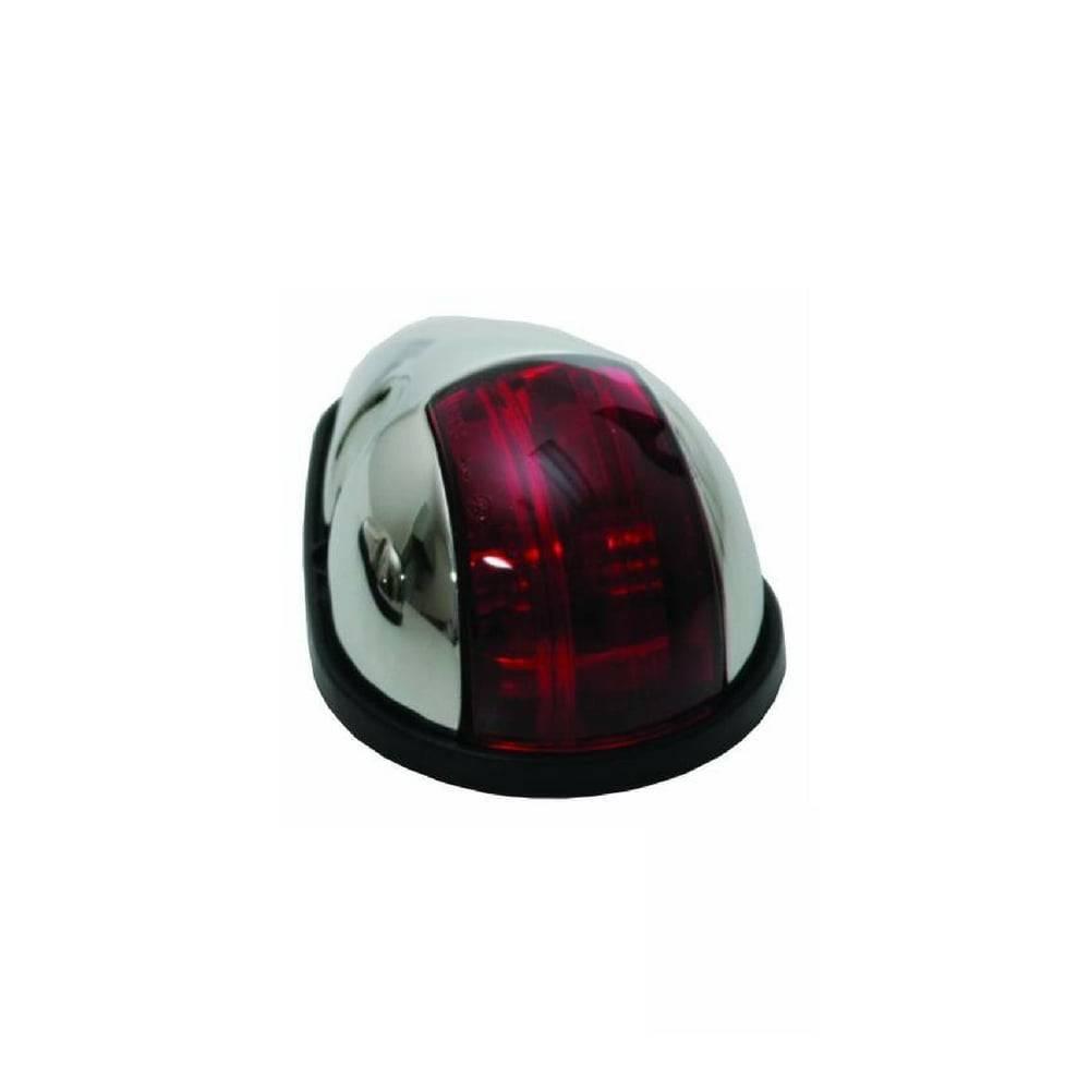 ITC RVS Navigatielicht Rood - Zijmontage