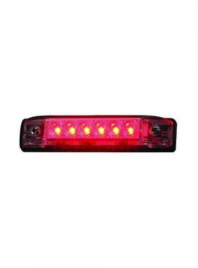 Boatersports 6 LED Strip Leuchter - Rot, 10,2 cm