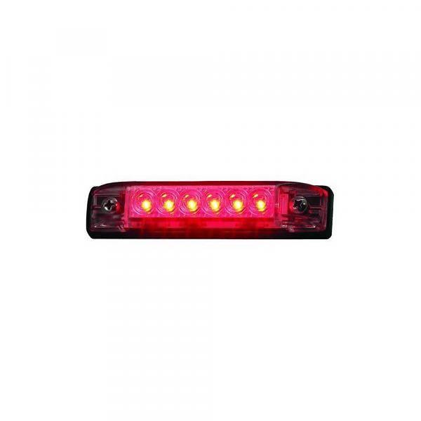 Boatersports 6 LED Strip Licht - Rood - 10,2cm