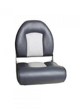 Titan Marine Winged Hi-back boat seat - Light Gray/Dark Gray