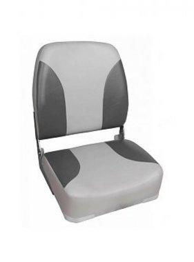 Titan Marine Deluxe Highback Seat - Grey/Charcoal