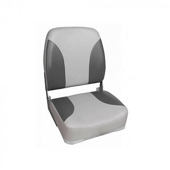 Titan Marine Deluxe bootstoel met hoge rug - Grijs/Antraciet