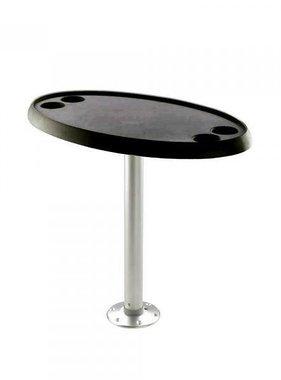 Titan Marine Ovale schwarze Tischplatte. 46 cm * 76 cm.