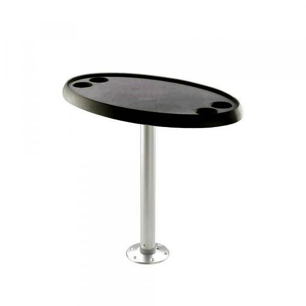 Titan Marine Ovaal - Zwart tafelblad - 46 cm * 76 cm