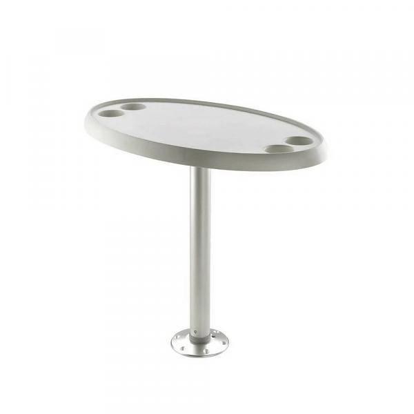 Titan Marine Ovale Weiße Tischplatte - 46 cm * 76 cm