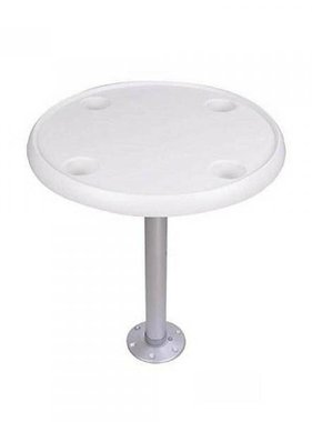 Titan Marine Rond - Wit tafelblad - Ø 60 cm