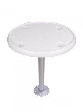 Titan Marine Runde weiße Tischplatte. Diam. 60 cm.